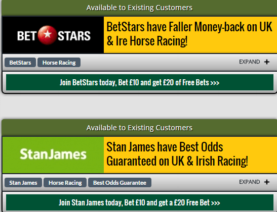 Irish Horse Racing Offers
