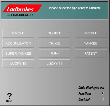 Ladbrokes betting calculators nba betting lines futures