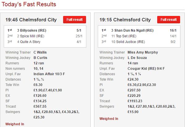 Ladbrokes Horse Racing Results