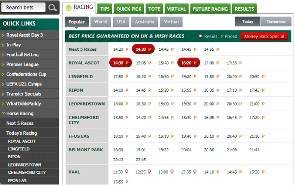 Live Horse Betting