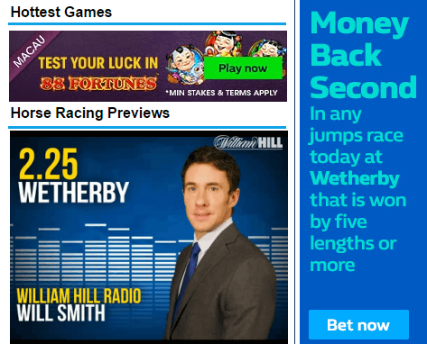William Hill Horse Racing Results Today