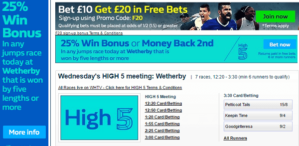 William Hill Horse Racing Results