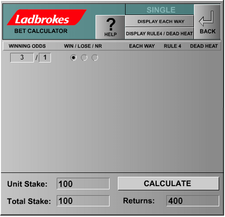 Horse racing odds each way calculator - Mlb betting favorites